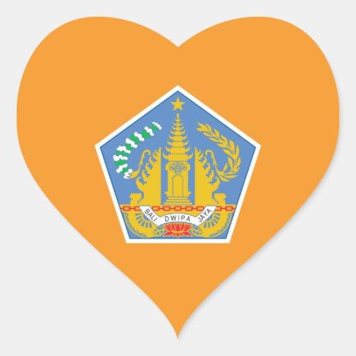 Bali Heart Flag, Indonesia Stickers
