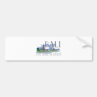 Bali Island Of Gods Bumper Sticker
