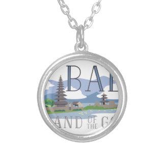 Bali Island Of Gods Round Pendant Necklace