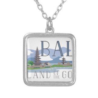 Bali Island Of Gods Square Pendant Necklace