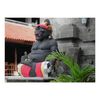Bali Painted Statue Poster