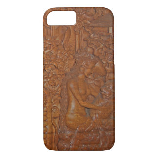 Bali Princess and Monkey Fairytale Wood Art iPhone 8/7 Case