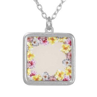 bali square pendant necklace