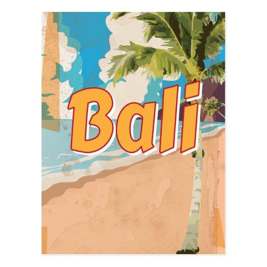 Bali Vintage travel poster Postcard