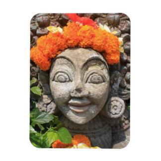 Balinese art rectangular photo magnet