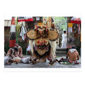 Balinese Barong dance performance Postcard