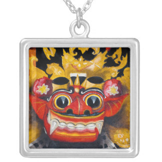 Balinese Barong Square Pendant Necklace