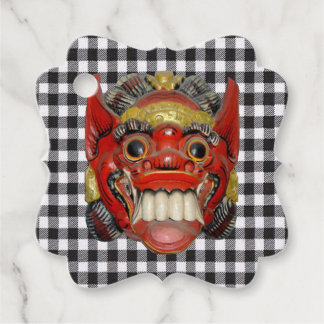 Balinese Ceremonial Mask 1 Favour Tags