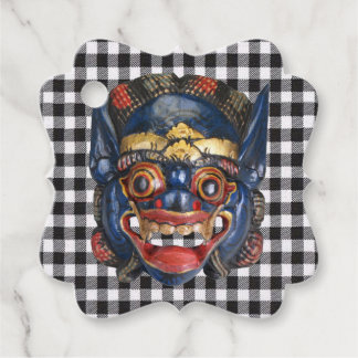 Balinese Ceremonial Mask 2 Favour Tags