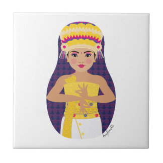 Balinese Dancer Matryoshka Tile