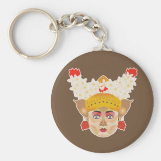 Balinese Girl Dancer Key Ring
