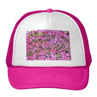 Balinese Glass Tile Art - Pink Trucker Hat