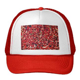 Balinese Glass Tile Art - Red Trucker Hat