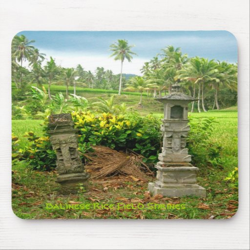 Balinese Rice Field Shrines Mousepads