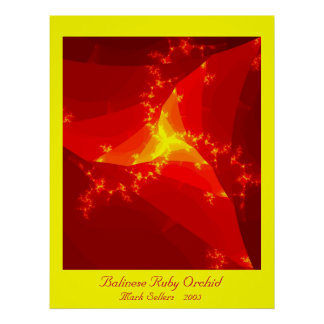 Balinese Ruby Orchid (yellow) Poster