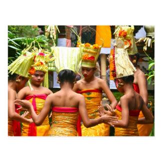 Balinese Temple Dedication Festival Post Card