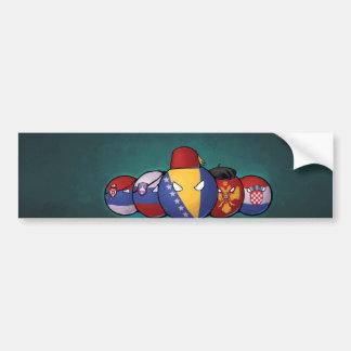 Balkan Countryballs Bumper Sticker