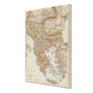 Balkan Peninsula 2 Canvas Print
