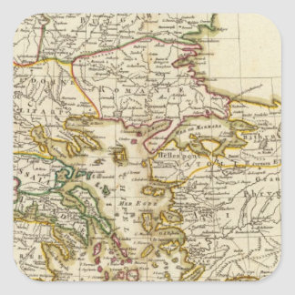 Balkan Peninsula 2 Square Sticker