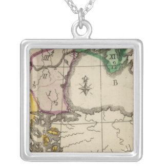 Balkan Peninsula 3 Silver Plated Necklace