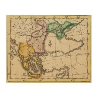 Balkan Peninsula 3 Wood Print