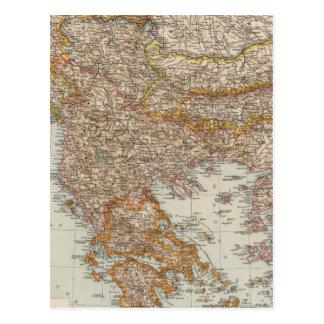 Balkan Peninsula 4 Postcard