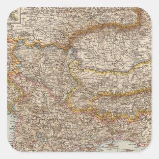 Balkan Peninsula 4 Square Sticker