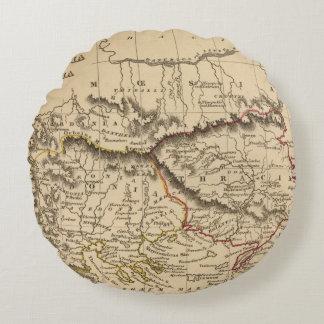 Balkan Peninsula 5 Round Cushion