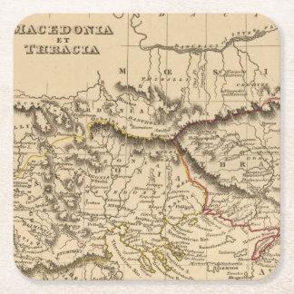 Balkan Peninsula 5 Square Paper Coaster