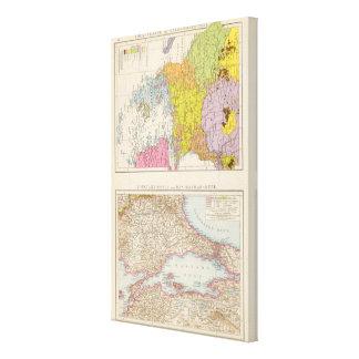 Balkan Peninsula  and Constantinople Map Canvas Print