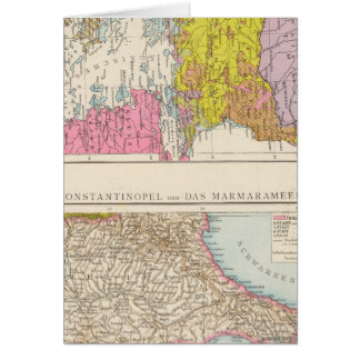 Balkan Peninsula  and Constantinople Map Card