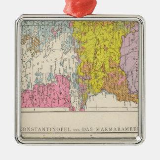 Balkan Peninsula  and Constantinople Map Christmas Ornament