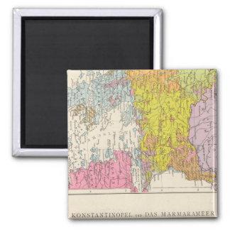 Balkan Peninsula  and Constantinople Map Magnet