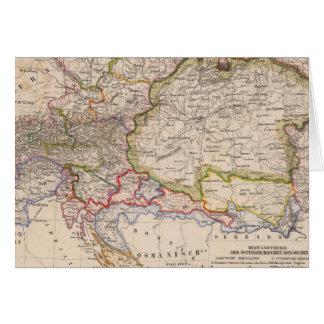 Balkan Peninsula, Austria, Hungary Card