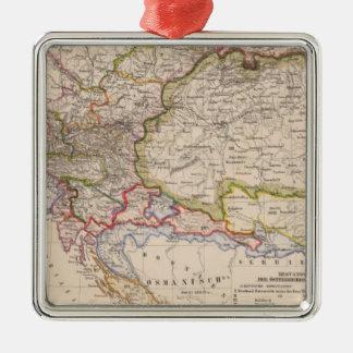 Balkan Peninsula, Austria, Hungary Silver-Colored Square Decoration