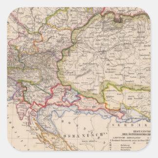 Balkan Peninsula, Austria, Hungary Square Sticker