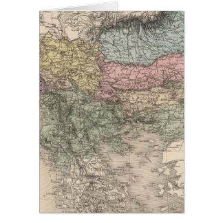 Balkan Peninsula Card