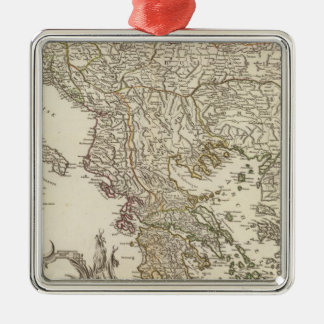 Balkan Peninsula Christmas Ornament