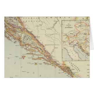 Balkan Peninsula, Croatia, Slovenia Card