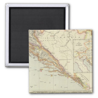 Balkan Peninsula, Croatia, Slovenia Magnet