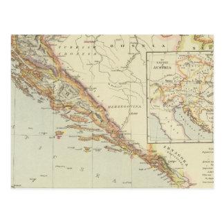 Balkan Peninsula, Croatia, Slovenia Postcard