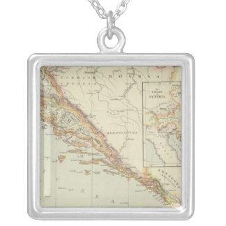 Balkan Peninsula, Croatia, Slovenia Square Pendant Necklace