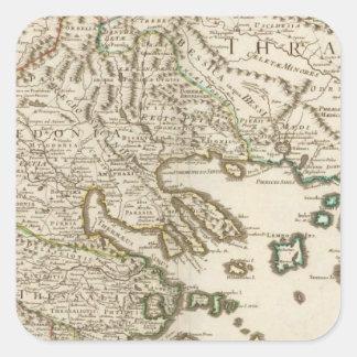 Balkan Peninsula, Greece, Macedonia 2 Square Sticker