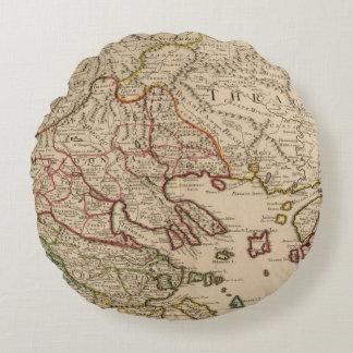 Balkan Peninsula, Greece, Macedonia 3 Round Cushion