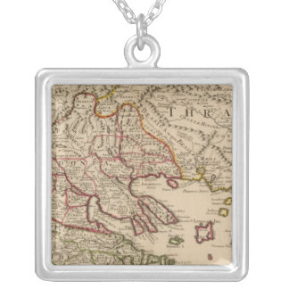 Balkan Peninsula, Greece, Macedonia 3 Silver Plated Necklace