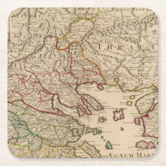 Balkan Peninsula, Greece, Macedonia 3 Square Paper Coaster