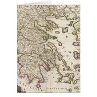 Balkan Peninsula, Greece, Macedonia Card