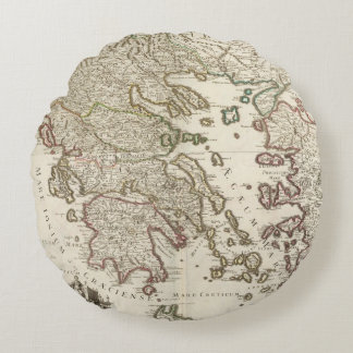 Balkan Peninsula, Greece, Macedonia Round Cushion