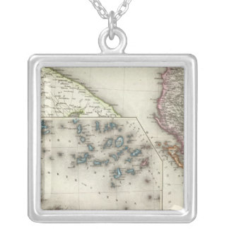 Balkan Peninsula, Greece Silver Plated Necklace
