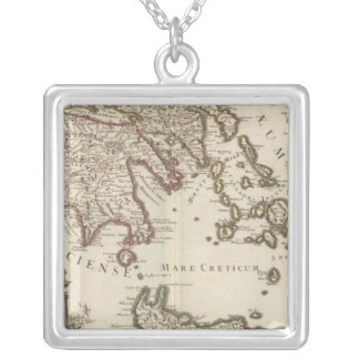 Balkan Peninsula, Greece, Turkey Silver Plated Necklace